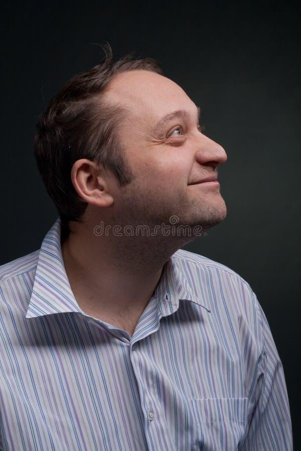 Lachen des jungen Mannes stockfotos