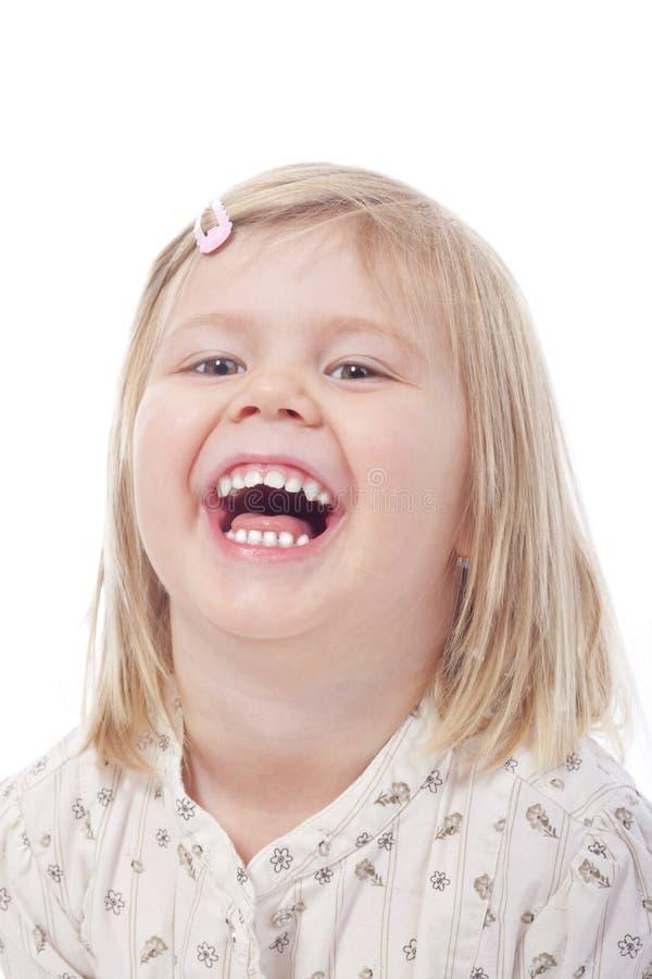 Lachen des kleinen Mädchens lizenzfreies stockfoto