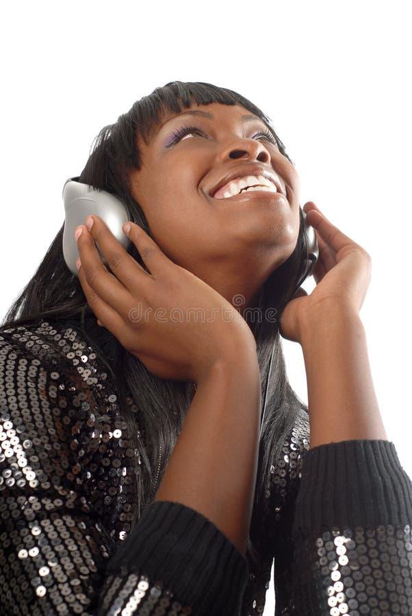 Lachend DJ stock afbeelding