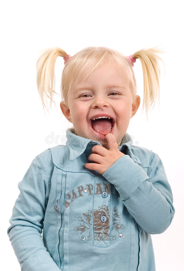 Lachend Meisje royalty-vrije stock foto's