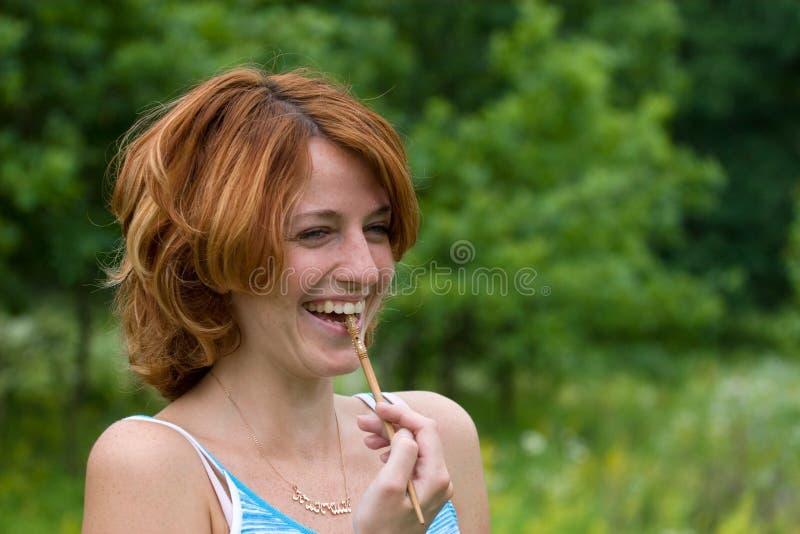 Lachend meisje stock afbeeldingen