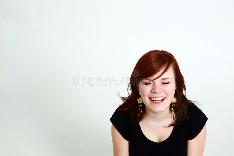Lachend tienermeisje royalty-vrije stock afbeeldingen