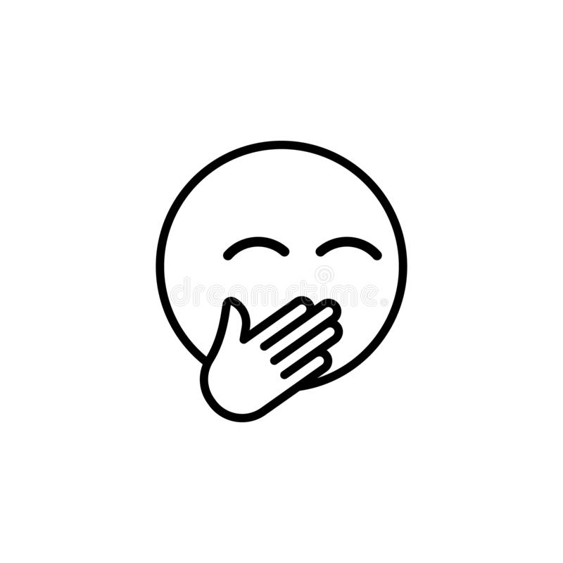Lachende emoji Entwurfsikone Zeichen und Symbole k?nnen f?r Netz, Logo, mobiler App, UI, UX verwendet werden lizenzfreie abbildung