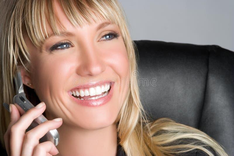 Lachende Geschäftsfrau stockbild