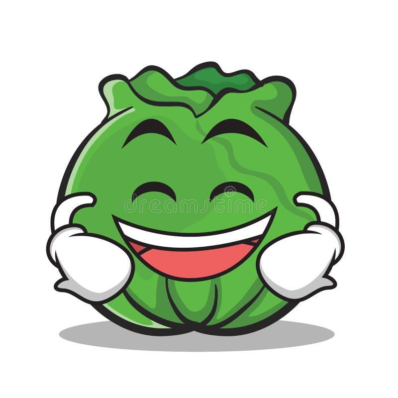 Lachende Gesichtskohl-Zeichentrickfilm-Figur-Art lizenzfreie abbildung