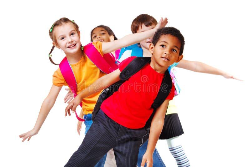 Lachende Jungen und Mädchen lizenzfreie stockfotografie
