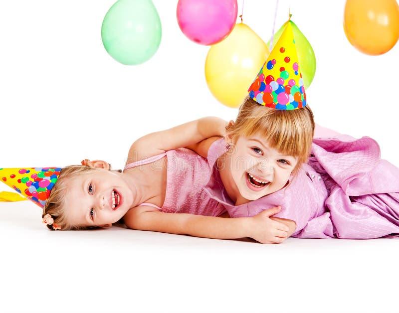 Lachende meisjes royalty-vrije stock foto