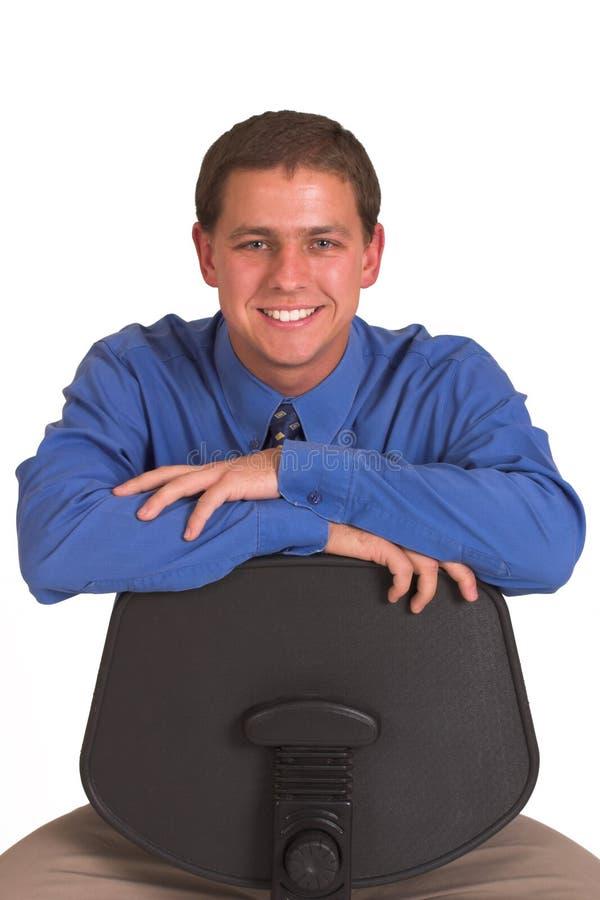 Lachende mens stock afbeelding