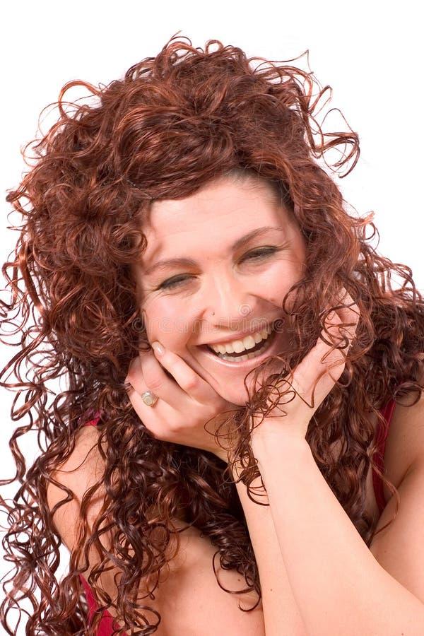 Lachende Schönheit lizenzfreies stockbild