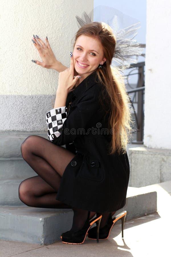 Lachende Schach Prinzessin stockfoto