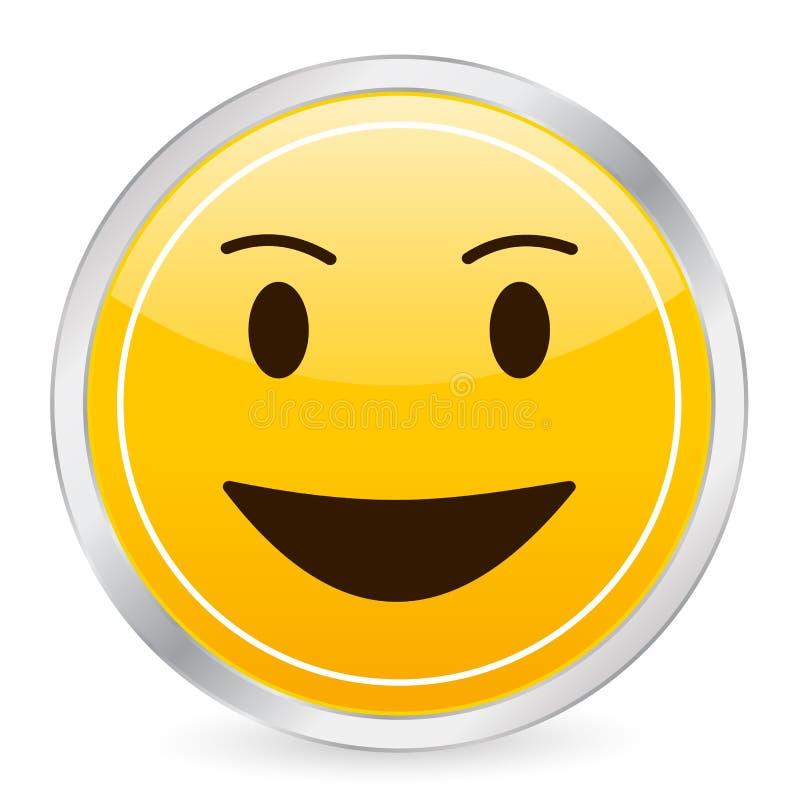 Lachender gelber Kreis IS des Gesichtes vektor abbildung
