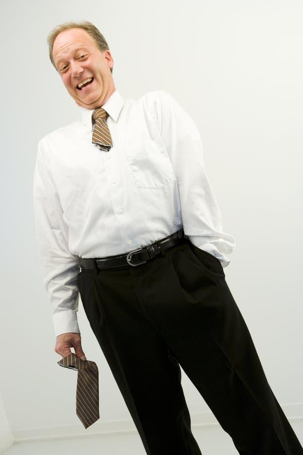 Lachender Geschäftsmann stockbilder