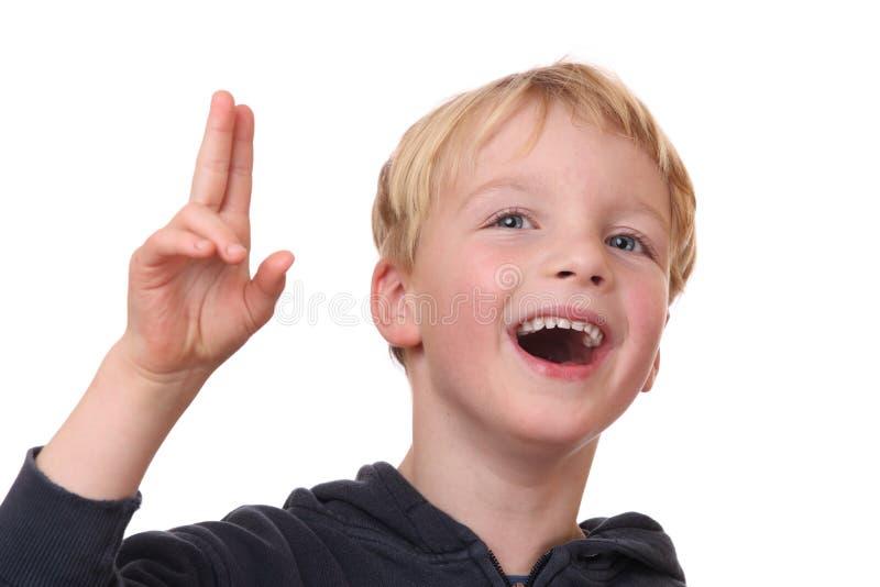 Lachender Junge lizenzfreies stockbild
