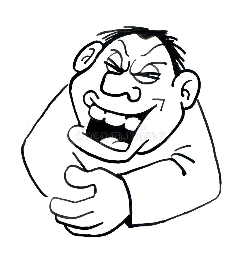 Lachender Mann der Karikaturzeichnung vektor abbildung