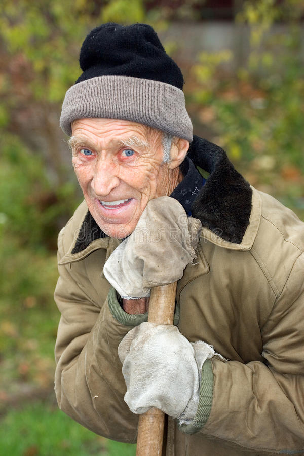 Lachender Pensionär lizenzfreie stockfotos