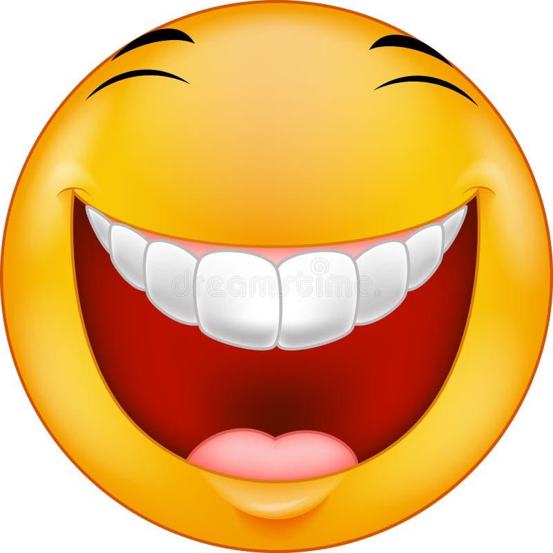 Lachender smiley der Karikatur vektor abbildung