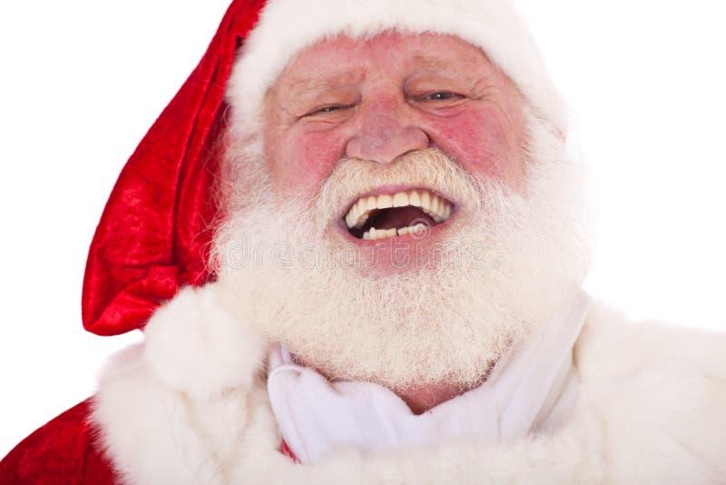 Lachender Weihnachtsmann stockbilder