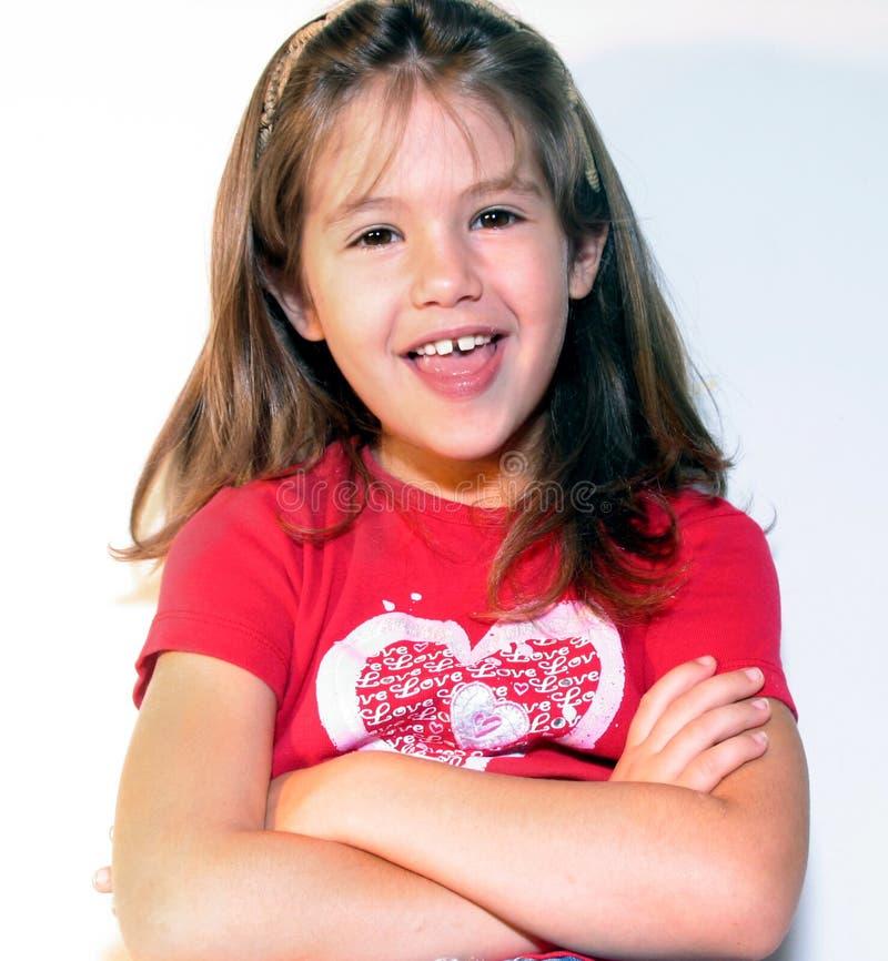 Download Lachendes kleines Mädchen stockfoto. Bild von gefühl, gespräch - 27928
