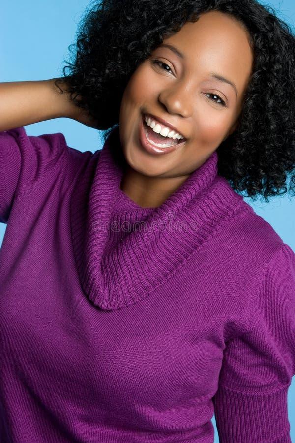 Lachendes schwarzes Mädchen stockfotos