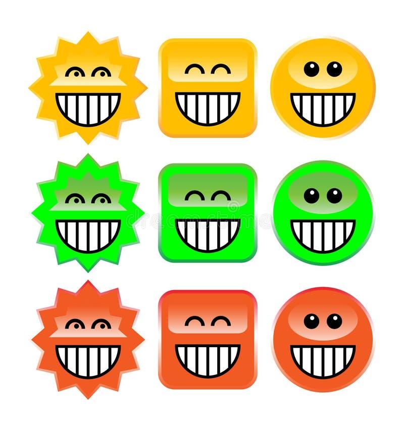Lachensymbole lizenzfreie abbildung