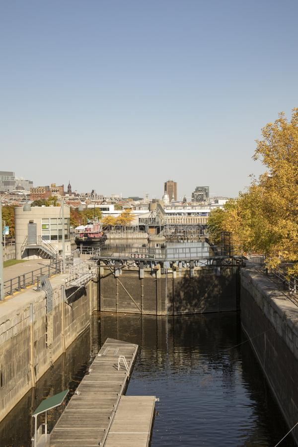 Lachine运河,蒙特利尔,加拿大 免版税库存照片