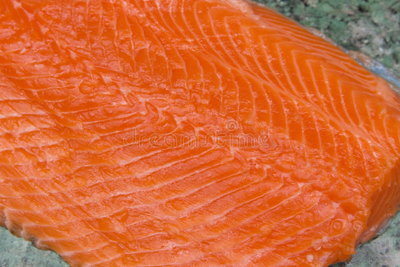 Lachse Frischer roher Salmon Red Fish verkleidung lizenzfreie stockfotografie