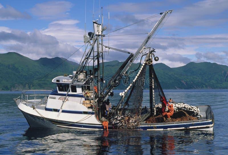 Lachsfischerboot lizenzfreies stockfoto