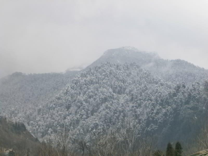 Lachung am Winter stockfoto