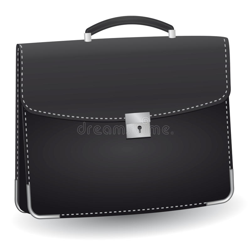 Lack briefcase royalty free stock images