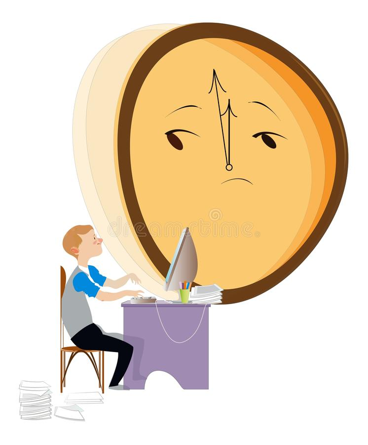 Download Lack of time stock vector. Illustration of profession - 26044238