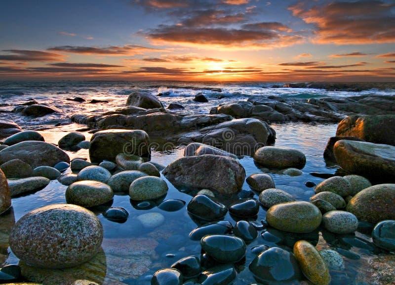 lackade rocks royaltyfri foto