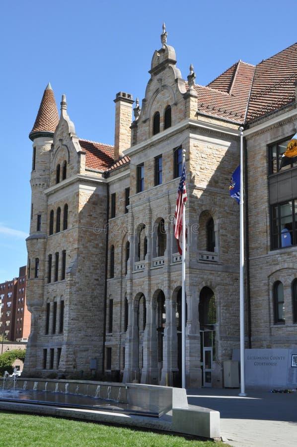 Lackawanna County Gericht in Scranton, Pennsylvania lizenzfreies stockbild