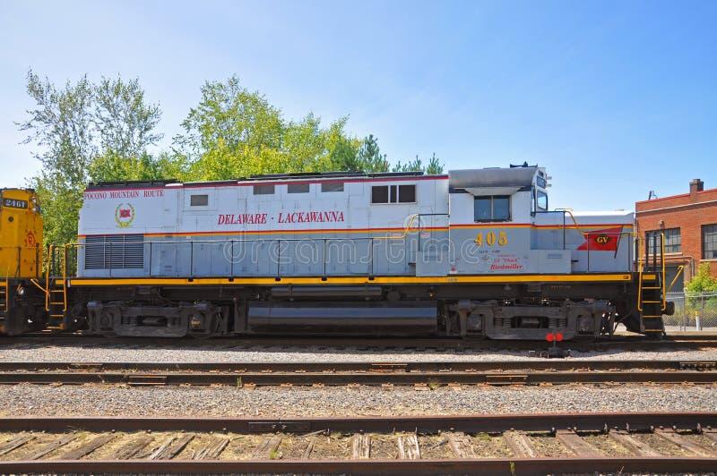 Diesel Locomotive At Steamtown National Historic Site In