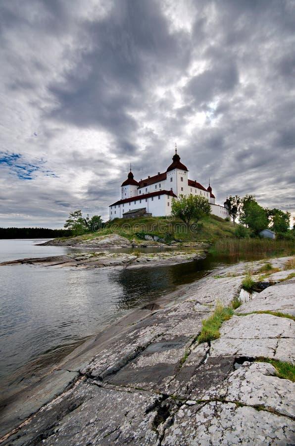 Lacko城堡在瑞典 库存图片