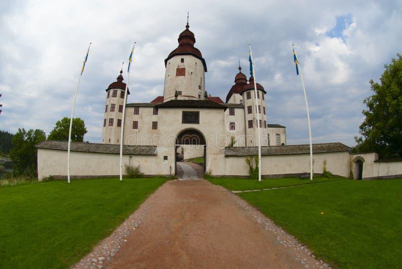 Lacko castle stock image
