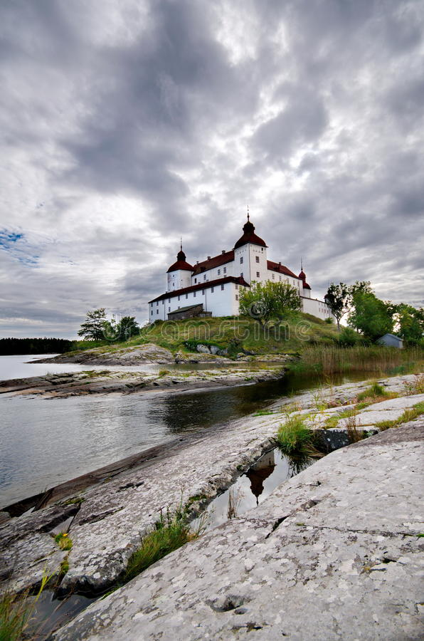 Lacko slott i Sverige royaltyfria bilder