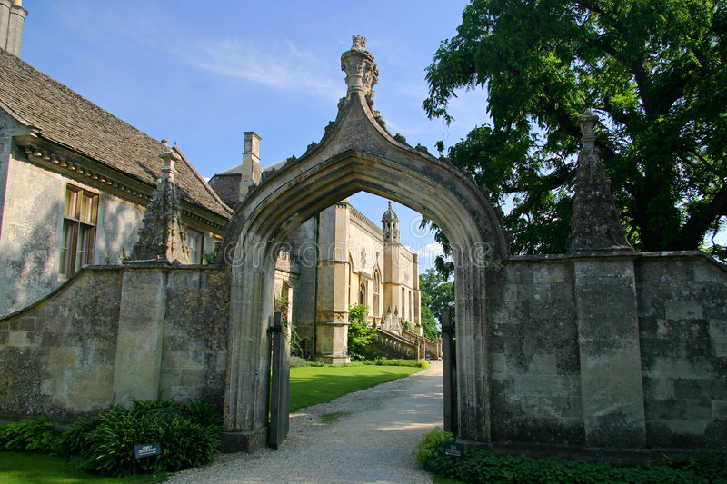 Lacock Abbey Entrance royalty free stock photos