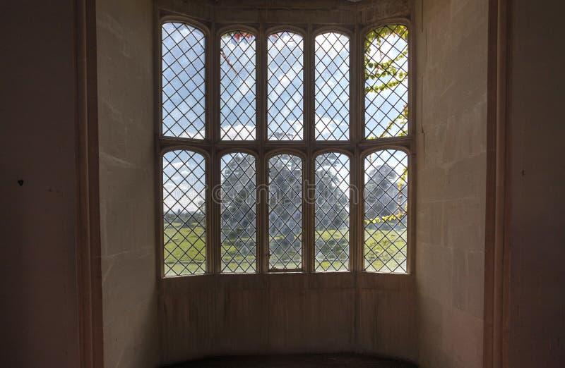 Lacock Abbey Oriel Window stock foto