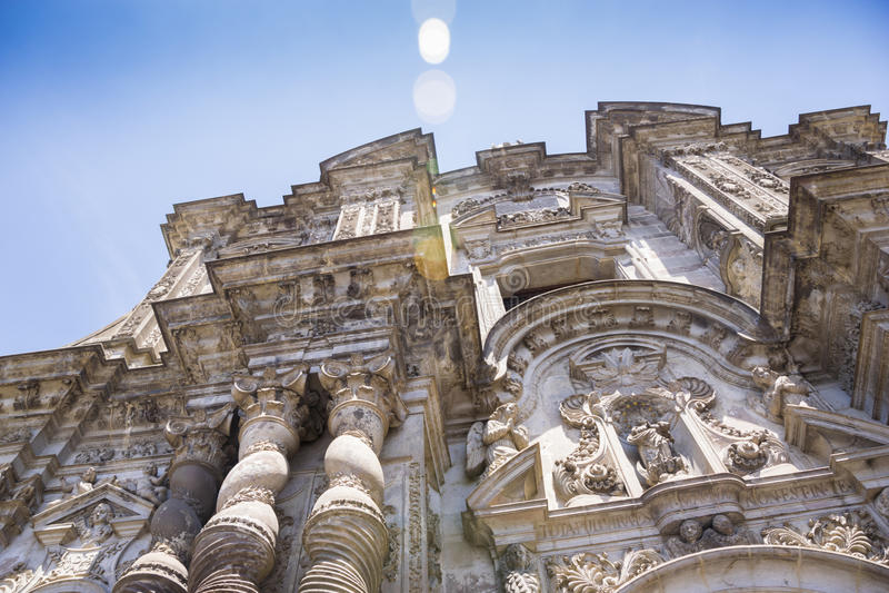 Lacompaniade Jesus katolsk kyrka i Quito royaltyfri fotografi