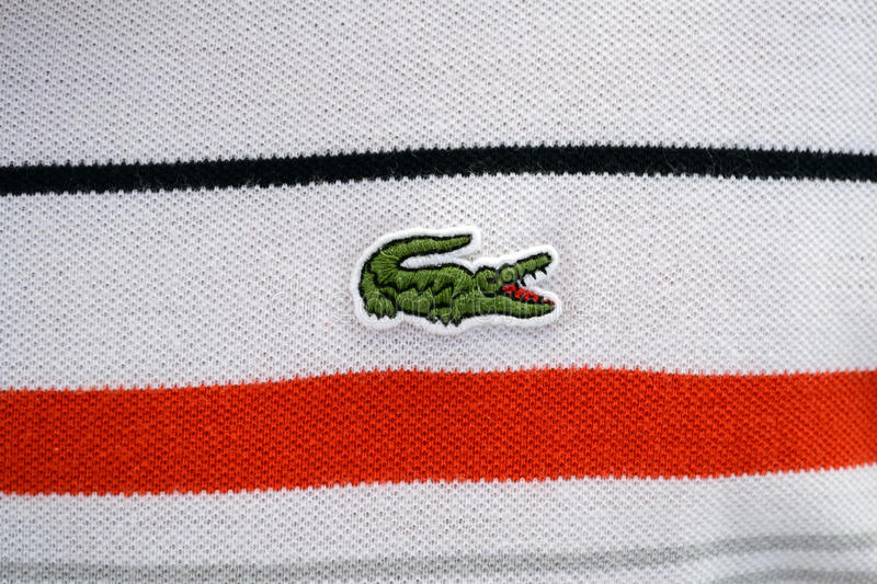 Lacoste stock photography
