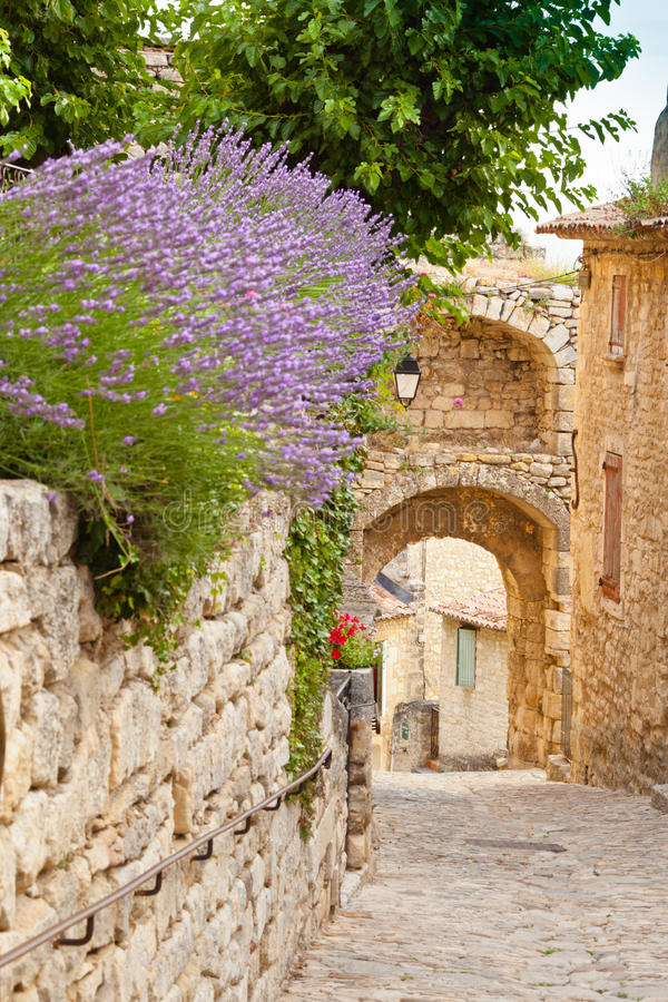 Download Lacoste stock image. Image of street, fort, sade, luberon - 25976111