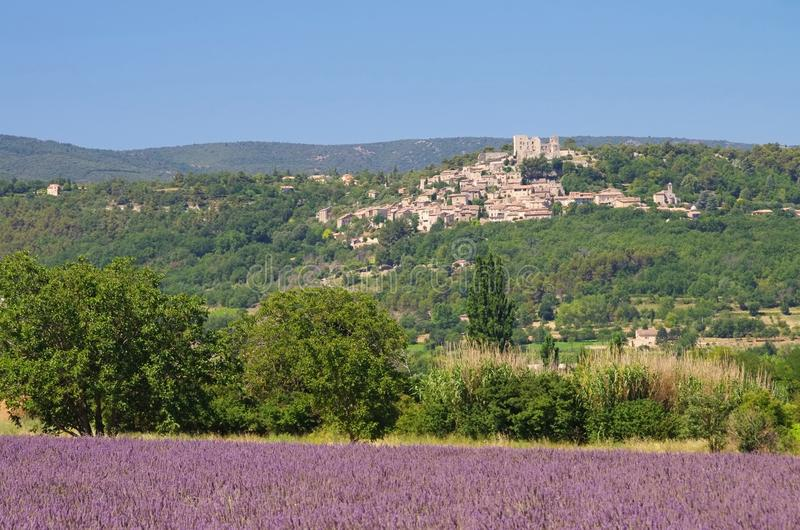Download Lacoste stock photo. Image of townscape, lavender, castle - 28687330