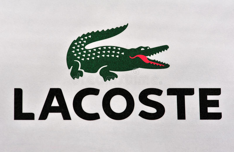 Lacoste classic brand royalty free stock image