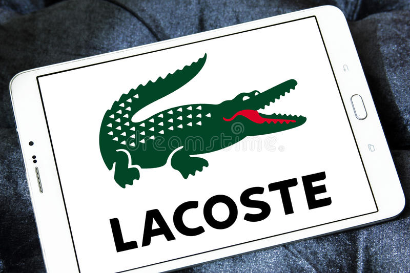 Lacoste logo stock images