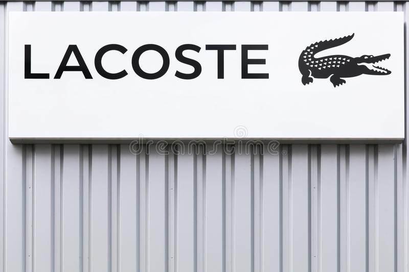Lacoste Logo On A Wall Editorial Photo Image Of Clothing 102422371