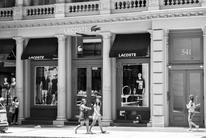 Lacosteopslag royalty-vrije stock foto
