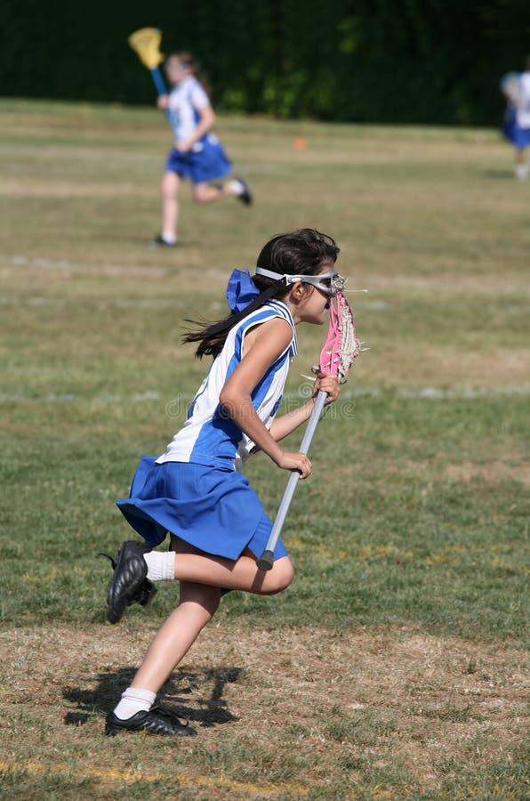 lacrosse девушки стоковое изображение
