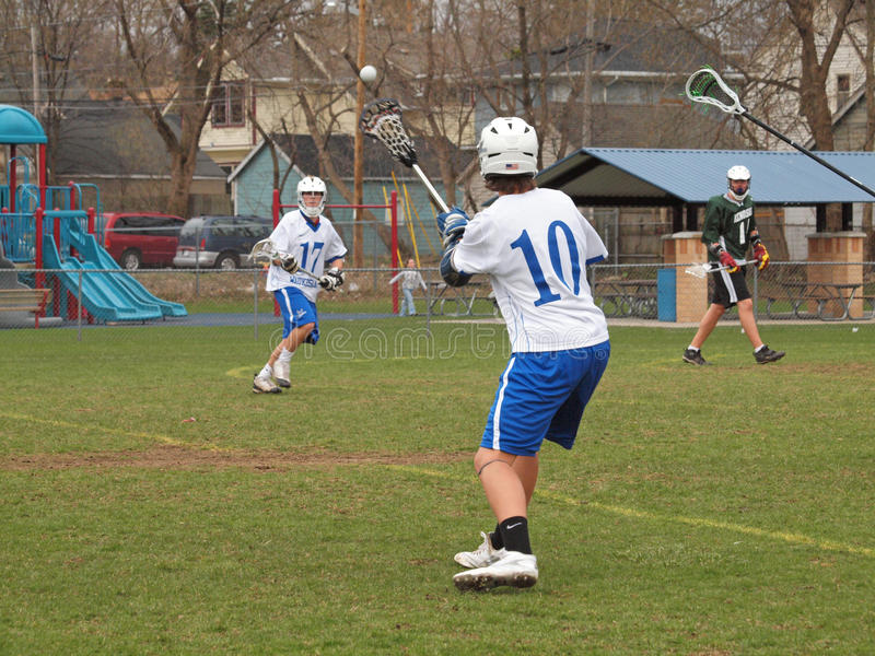 Lacrosse action royalty free stock images