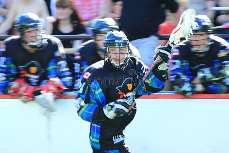 Lacrosse da caixa - privateers novos do scotia fotografia de stock royalty free