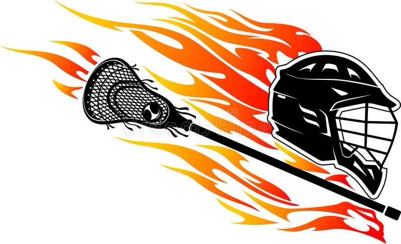 Lacrosse Flaming Trail royalty free illustration